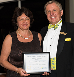 CCMS Recognizes Senator Passidomo for Outstanding Legislative Service